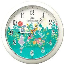 リズム時計 RHYTHM 掛け時計 ふしぎの国のアリス804 白パール色(緑) 8MG804MC05