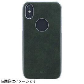 MSソリューションズ iPhone X用 シェル型ケース ソフトPU Glacier Luxe Heritage/Khaki グリーン Uniq IP8HYB-GLCLHGRN