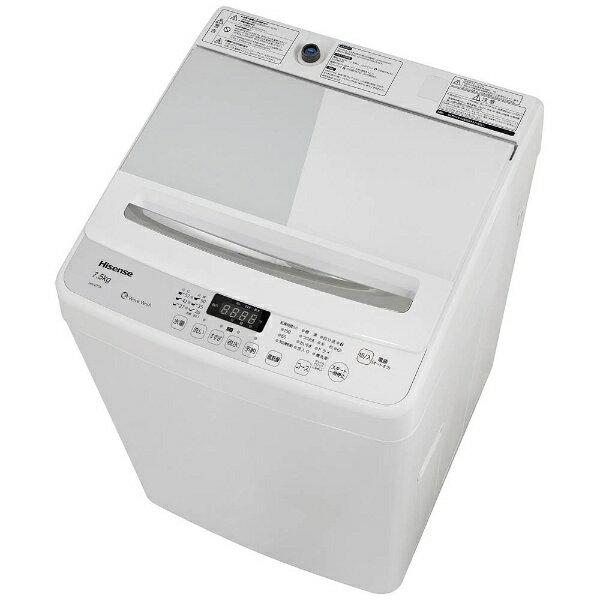 ハイセンス Hisense HW-G75A 全自動洗濯機 ホワイト/ホワイト [洗濯7.5kg /乾燥機能無 /上開き][HWG75A]【洗濯機】