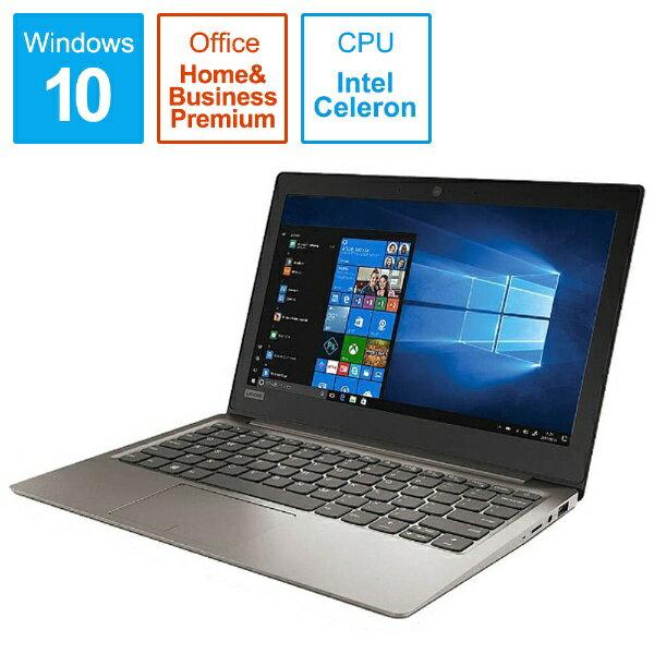 レノボジャパン Lenovo 81A4002CJP ノートパソコン Ideapad (アイデアパッド )120S ミネラルグレー [11.6型 /intel Celeron /SSD:128GB /メモリ:4GB /2017年10月モデル][81A4002CJP]