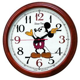 セイコー SEIKO 掛け時計 【Disney Time(ディズニータイム)ミッキー&フレンズ】 茶木地 FW582B [電波自動受信機能有]