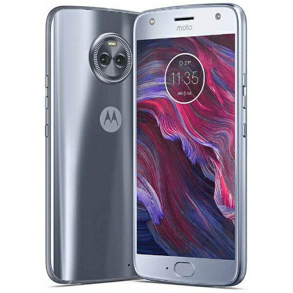 モトローラ Motorola 【防水】 Moto X4スティーリングブルー「PA8T0014JP」 Snapdragon 630 5.2型・メモリ/ストレージ:4GB/64GB nanoSIMx2 DSDS対応 ドコモSIM対応 SIMフリースマートフォン[PA8T0014JP]