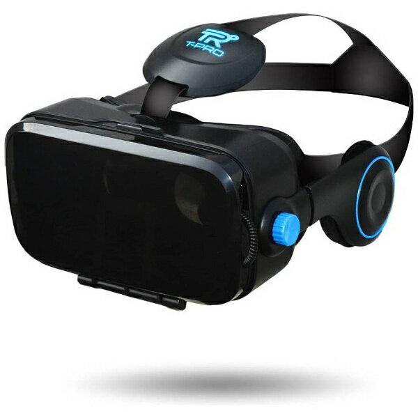 【送料無料】 フジアンドチェリー ヘッドセット一体型VRゴーグル ブラック TVR-50BK(FaC) スマートフォン用[4.0〜6.0インチ]