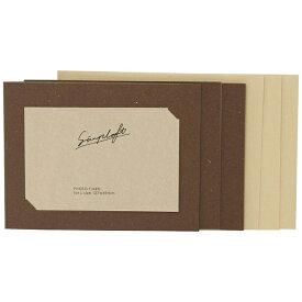 ナカバヤシ Nakabayashi simplaft(シンプラフト) フォトカード封筒付き3枚セット L判サイズ(ブラウン) PCLSPTBR