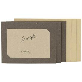 ナカバヤシ Nakabayashi simplaft(シンプラフト) フォトカード封筒付き3枚セット L判サイズ(グレー) PCLSPTN