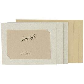 ナカバヤシ Nakabayashi simplaft(シンプラフト) フォトカード封筒付き3枚セット L判サイズ(ホワイト) PCLSPTW