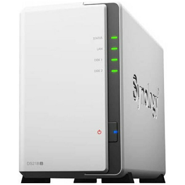 【送料無料】 SYNOLOGY DiskStation DS218j デュアルコアCPU搭載多機能パーソナルクラウド 2ベイNASキット DS218j