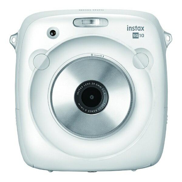 富士フイルム FUJIFILM ハイブリッドインスタントカメラ 『チェキ』 instax SQUARE SQ10(ホワイト)【SQ10】 [INSSQUARESQ10WHITE]