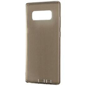レイアウト rayout Galaxy Note8用 TPUソフトケース コネクタキャップ付き ブラック RT-GN8TC10/BM