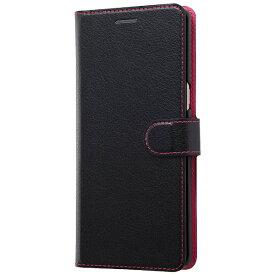 レイアウト rayout Galaxy Note8用 手帳型ケース シンプル マグネット ブラック/ピンク RT-GN8ELC1/BP