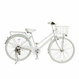 TAGlabel by amadana タグレーベル バイ アマダナ 【ビックカメラグループオリジナル】26型 自転車 amadana citybike(ツヤケシホワイト/6段変速) ATB266【組立商品につき返品不可】【point_rb】 【代金引換配送不可】