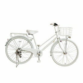 TAGlabel by amadana タグレーベル バイ アマダナ 【ビックカメラグループオリジナル】26型 自転車 amadana citybike(ツヤケシホワイト/6段変速) ATB266【組立商品につき返品不可】 【代金引換配送不可】