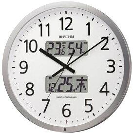 リズム時計 RHYTHM 掛け時計 【プログラムカレンダー403SR】 シルバーメタリック 4FN403SR19 [電波自動受信機能有][4FN403SR19]