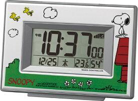 リズム時計 RHYTHM 目覚まし時計 【スヌーピーR187】 白 8RZ187-M03 [デジタル /電波自動受信機能有][8RZ187M03]
