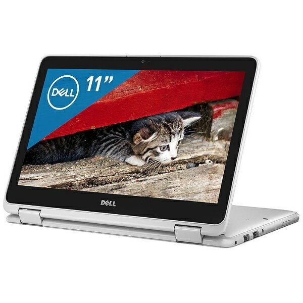 【送料無料】 DELL 11.6型ノートPC[Office付き・Win10・Pentium N3710・128GB SSD・メモリ4GB] Inspiron 11 3179 2-in-1 ホワイト MI01C-7WHBW(2017秋冬モデル)[MI01C7WHBW]
