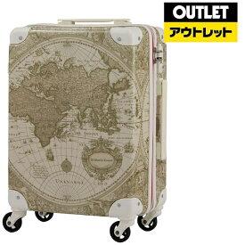 レジェンドウォーカー LEGEND WALKER 【アウトレット品】スーツケース(32L) 7500-46-BEMAP ベージュ地図柄【外装不良品】750046BEMAP 【kk9n0d18p】