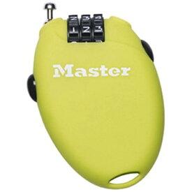 マスターロック Master Lock ダイヤル式リトラクトケーブルロック(暗証番号ロック) 61cm グリーン 4603JADGRN