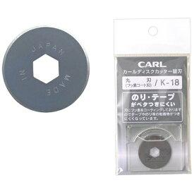 カール事務器 CARL ディスクカッター替刃(丸刀/1枚) K-18