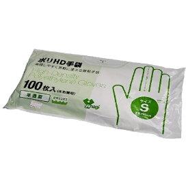 やなぎプロダクツ ポリHD手袋(100枚入)S(左右兼用)[ゴム・ビニール手袋]