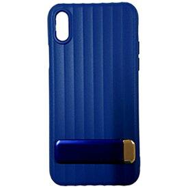 MULTIFUN マルティファン iPhone X用 Multifun メタルスタンドケース ブルー BL-PC20-BL