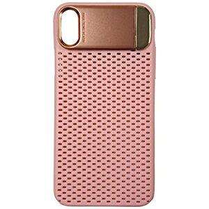 MULTIFUN マルティファン iPhone X用 Multifun メタルスタンドケース メッシュタイプ ピンク BL-PC21-PK