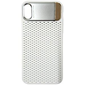 MULTIFUN マルティファン iPhone X用 Multifun メタルスタンドケース メッシュタイプ ホワイト BL-PC21-WH