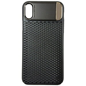MULTIFUN マルティファン iPhone X用 Multifun メタルスタンドケース メッシュタイプ ブラック BL-PC21-BK