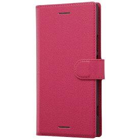 レイアウト rayout Xperia XZ1用 手帳型ケース シンプル マグネット ピンク RT-RXZ1ELC1/P