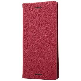 レイアウト rayout Xperia XZ1用 手帳型ケース マグネットタイプ レッド RT-RXZ1SLC3/JR
