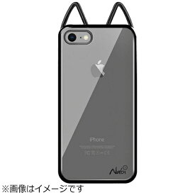 UI ユーアイ iPhone 8 Plus Lovely Nabi Metal Case クローム ブラック NABI166