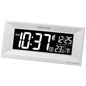 リズム時計 RHYTHM 目覚まし時計 【Iroria M】 白 8RZ196SR03 [デジタル /電波自動受信機能有]