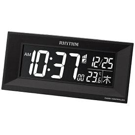リズム時計 RHYTHM 目覚まし時計 【Iroria M】 黒 8RZ196SR02 [デジタル /電波自動受信機能有]