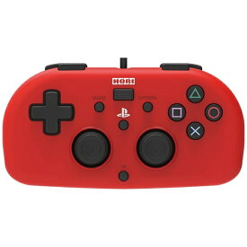 HORI ホリ ワイヤードコントローラーライト for PlayStation4 レッド PS4-101【PS4】