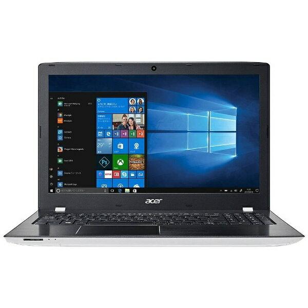 【送料無料】 ACER(エイサー) 15.6型ノートPC[Win10 Home・Core i5・HDD 500GB・メモリ 4GB]Aspire E 15 マーブルホワイト E5-576-F54D/WF[E5576F54DWF]