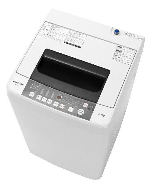 【送料無料】 ハイセンス Hisense HW-T55C 全自動洗濯機 ホワイト [洗濯5.5kg /乾燥機能無 /上開き][HWT55C][一人暮らし 新生活 新品 小型 設置 洗濯機]