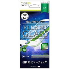 トリニティ Trinity iPhone 8 FLEX 3D 複合フレームガラス ホワイト TRIP174G3CCWT