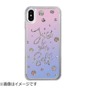 ROA ロア iPhone X用 Sparkle case Calligraphy IC10343I8