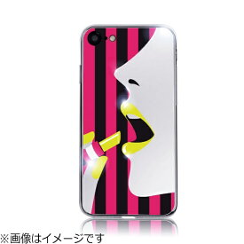 ROA ロア iPhone 8 Stripe Mirror Case イエローリップ DP10178I7S