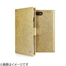 ROA ロア iPhone 8 手帳型 グリッターケース ゴールド DP10168I7S