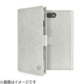 ROA ロア iPhone 8 手帳型 グリッターケース シルバー DP10167I7S