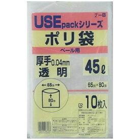 サンスクリット SANSKRIT 透明ポリ袋 厚手 45L 10P