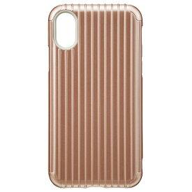 坂本ラヂヲ iPhone X用 Rib Hybrid Case ローズゴールド CHC50317RGD
