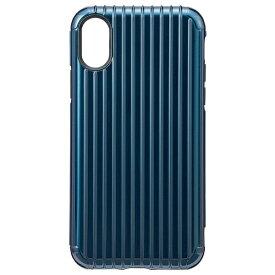 坂本ラヂヲ iPhone X用 Rib Hybrid Case ネイビー CHC50317NVY