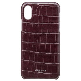 坂本ラヂヲ iPhone X用 レザーケースEURO Passione Croco Shell Leather Case ワイン CBC60327WHT