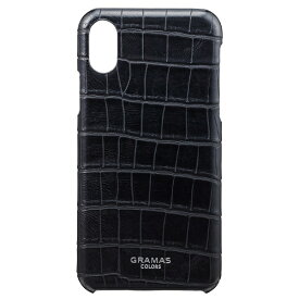 坂本ラヂヲ iPhone X用 レザーケースEURO Passione Croco Shell Leather Case ブラック CBC60327BLK