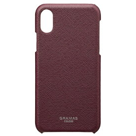 坂本ラヂヲ iPhone X用 レザーケースEURO Passione Shell Leather Case ワイン CBC60317WNE