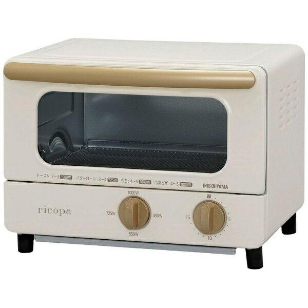 アイリスオーヤマ IRIS OHYAMA EOT-R1001 オーブントースター ricopa(リコパ) アイボリー[EOTR1001C] [一人暮らし 単身 単身赴任 新生活 家電]