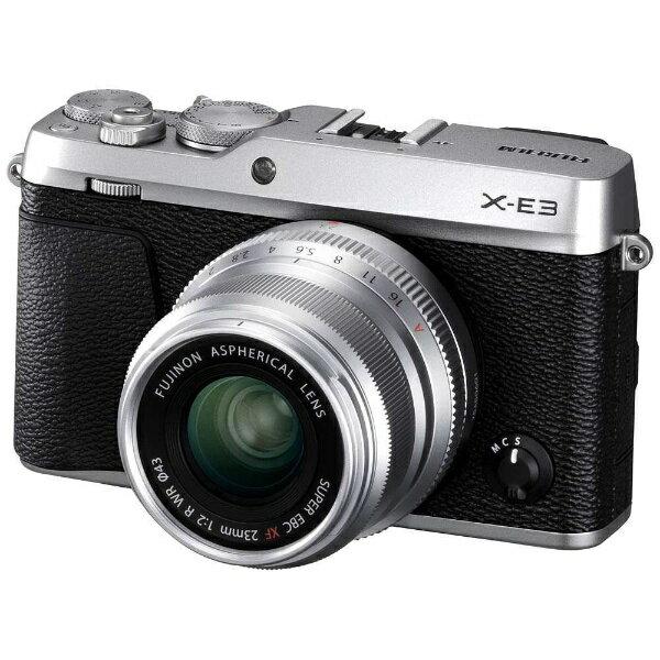 富士フイルム FUJIFILM FUJIFILM X-E3【XF23mmF2レンズキット】(シルバー/ミラーレス一眼カメラ)[FXE3LK23F2S]
