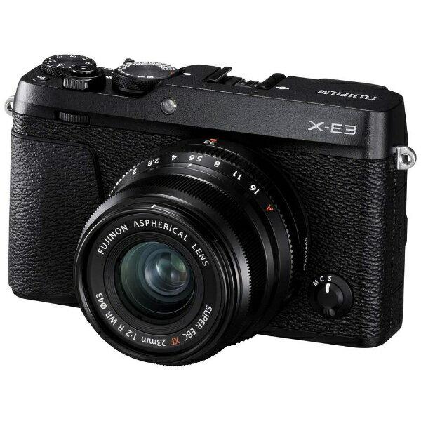 富士フイルム FUJIFILM FUJIFILM X-E3【XF23mmF2レンズキット】(ブラック/ミラーレス一眼カメラ)[FXE3LK23F2B]