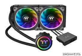 THERMALTAKE サーマルテイク CPUクーラー Floe Riing RGB 240 TT Premium Edition CL-W157-PL12SW-A[CLW157PL12SWA]